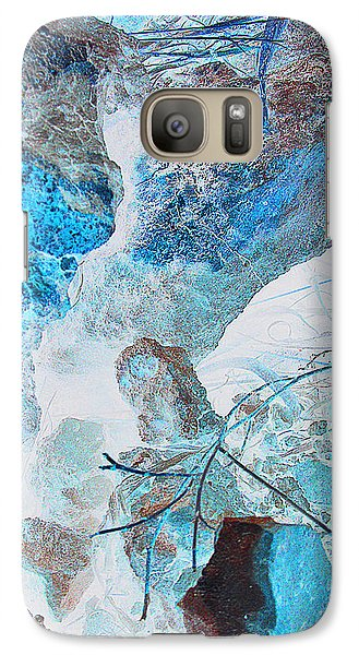 Galaxy Case featuring the photograph Caliche And Desert Grasses by Louis Nugent