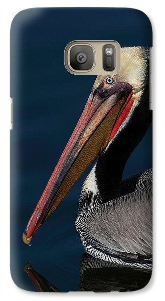 Galaxy Case featuring the photograph California Brown Pelican Portrait by Ram Vasudev