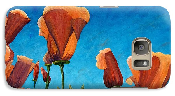 Galaxy Case featuring the painting California Closeup by Terry Taylor
