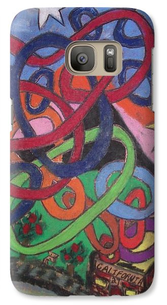 Galaxy Case featuring the drawing California by Jonathon Hansen