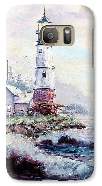Galaxy Case featuring the painting California Lighthouse by Lee Piper
