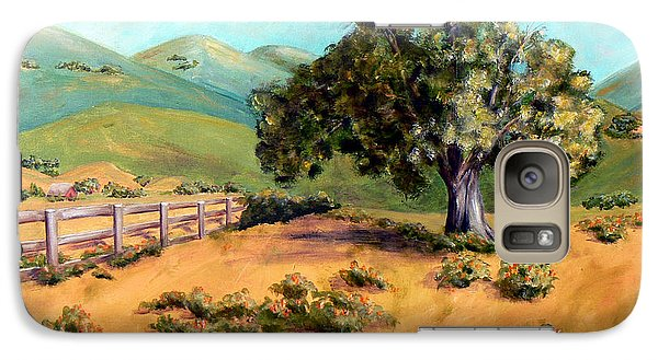 Galaxy Case featuring the painting California Poppies II by Terry Taylor
