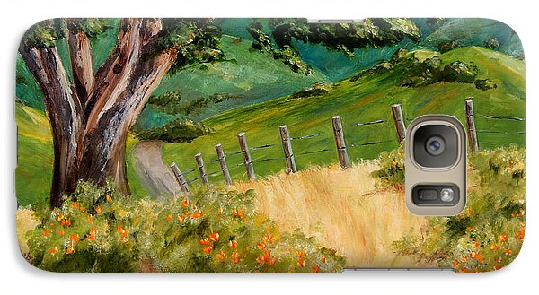 Galaxy Case featuring the painting California Poppies by Terry Taylor