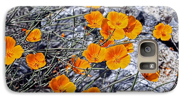 Galaxy Case featuring the photograph California Poppies by William Havle