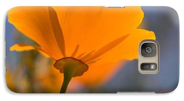 Galaxy Case featuring the photograph California Poppy by Chris Scroggins