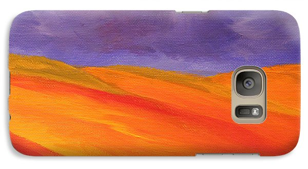 Galaxy Case featuring the painting California Poppy Hills by Janet Greer Sammons