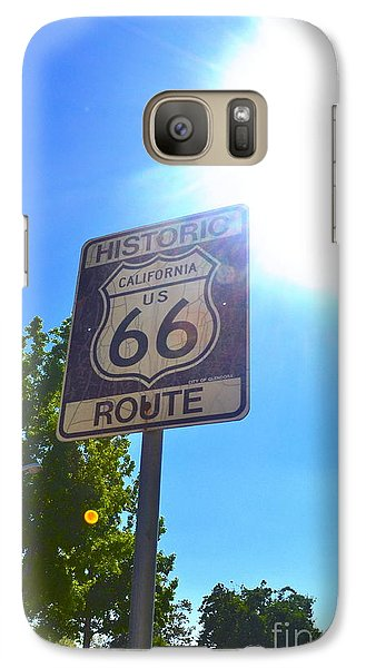 Galaxy Case featuring the photograph California Route 66 by Utopia Concepts