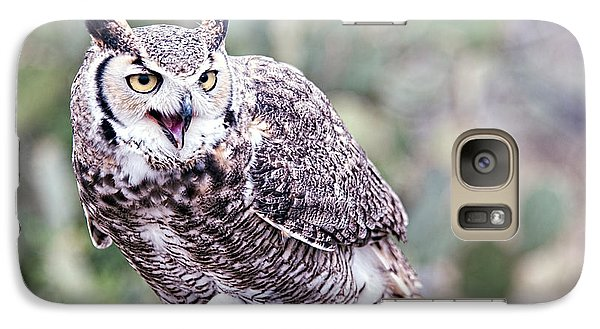 Galaxy Case featuring the photograph Call Of The Owl by Dan McManus