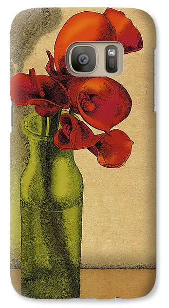 Galaxy Case featuring the drawing Calla Lilies In Bloom by Meg Shearer