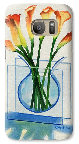 Galaxy Case featuring the painting Calla Lilies by Kathy Braud