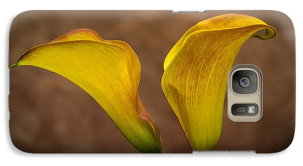 Galaxy Case featuring the photograph Calla Lilies by Sebastian Musial