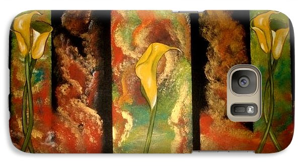 Galaxy Case featuring the painting Calla Lilly Sunrise by Cindy Micklos