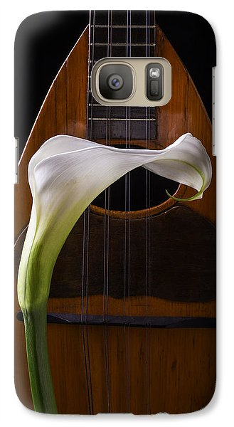 Lily Galaxy S7 Case - Calla Lily And Mandolin by Garry Gay