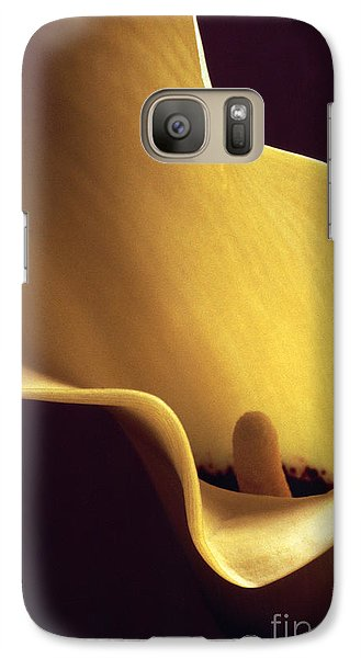 Galaxy Case featuring the photograph Calla Lily Close Up by Liz Leyden