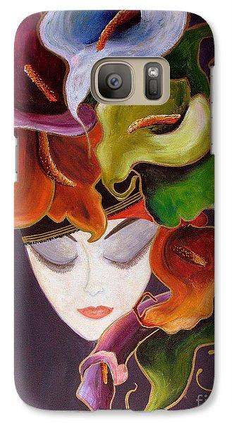 Galaxy Case featuring the painting Calla Lily Dame.. by Jolanta Anna Karolska