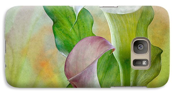 Galaxy Case featuring the photograph Calla Lily Garden by Shirley Mangini