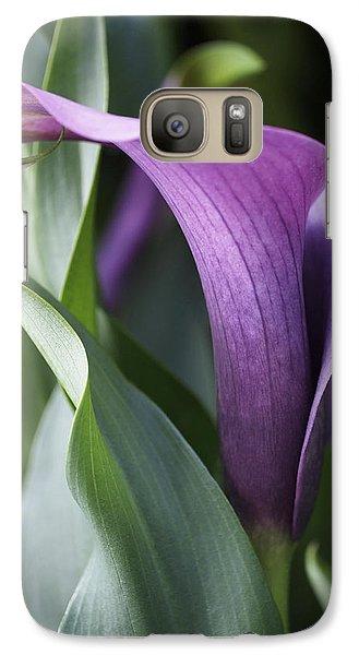 Calla Lily In Purple Ombre Galaxy S7 Case