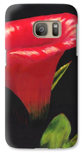 Galaxy Case featuring the painting Calla Lily by Jesslyn Fraser