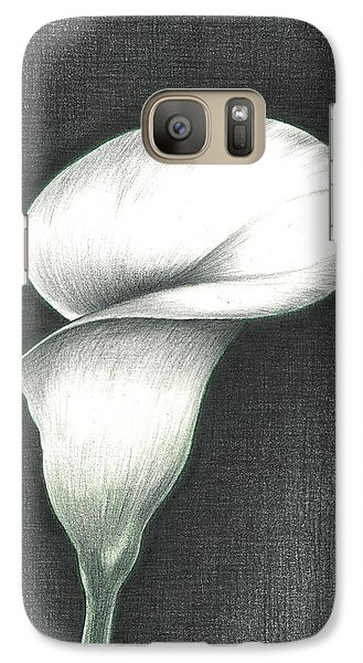 Galaxy Case featuring the photograph Calla Lily by Troy Levesque