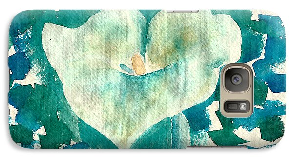 Galaxy Case featuring the painting Calla Lily Watercolor by Frank Bright