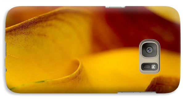 Galaxy Case featuring the photograph Calla Lily Waves by Sebastian Musial