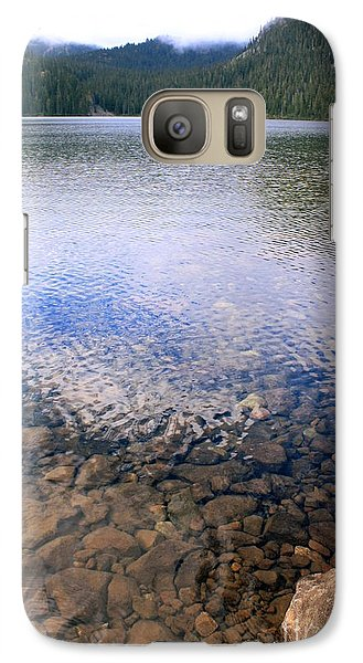 Galaxy Case featuring the photograph Callaghan Lake Stones by Amanda Holmes Tzafrir