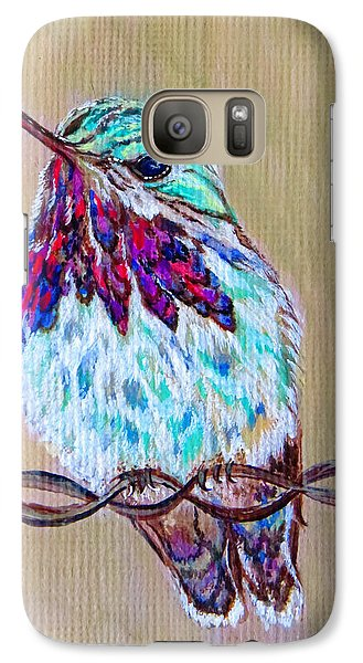Galaxy Case featuring the painting Calliope On The Fence by Ella Kaye Dickey
