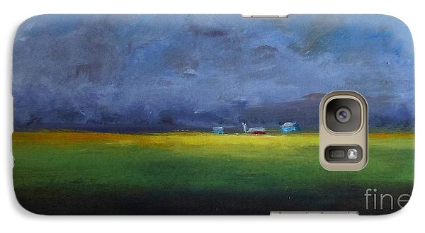 Galaxy Case featuring the painting Calm Before The Storm by Fred Wilson