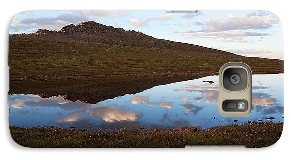 Galaxy Case featuring the photograph Calm Below The Summit by Jim Garrison
