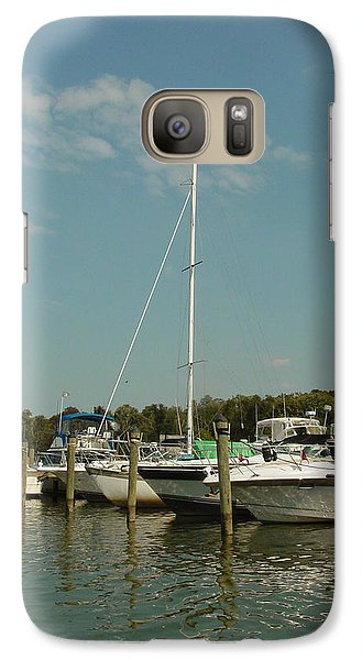 Galaxy Case featuring the photograph Calm Day At The Marina by Dorothy Maier