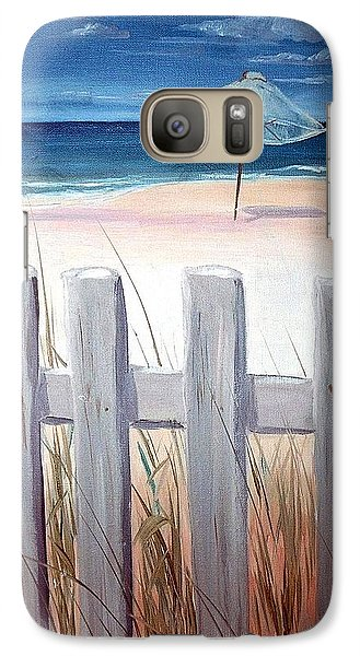 Galaxy Case featuring the painting Calm Day At The Seashore by Bernadette Krupa