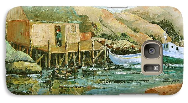 Galaxy Case featuring the painting Calm Day  by Marta Styk