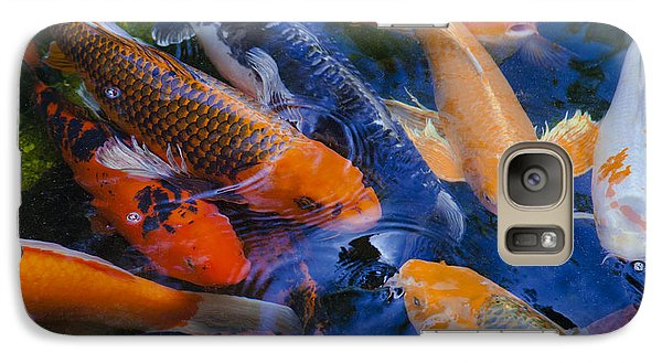 Galaxy Case featuring the photograph Calm Koi Fish by Jerry Cowart