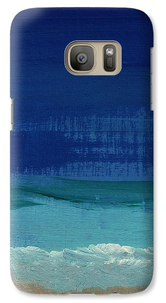 Calm Waters- Abstract Landscape Painting Galaxy Case by Linda Woods