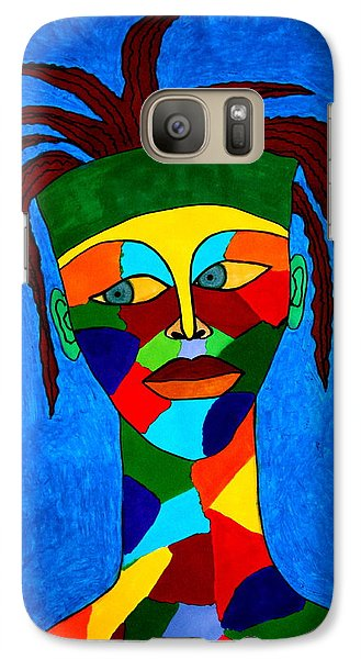Galaxy Case featuring the drawing Calypso Man by Chrissy Pena