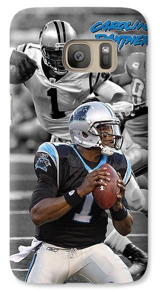Cam Newton Panthers Galaxy S7 Case by Joe Hamilton