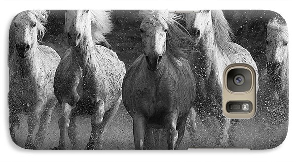 Horse Galaxy S7 Case - Camargue Horses Running by Carol Walker