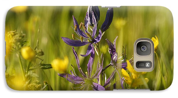 Galaxy Case featuring the photograph Camas And Wild Flowers by Inge Riis McDonald