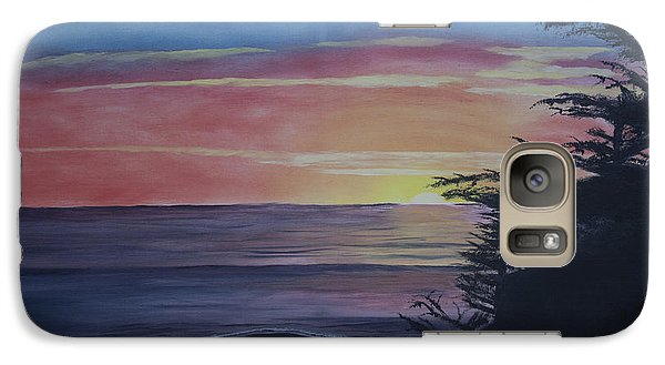 Galaxy Case featuring the painting Cambria Setting Sun by Ian Donley