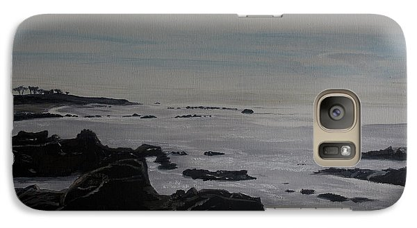 Galaxy Case featuring the painting Cambria Tidal Pools by Ian Donley