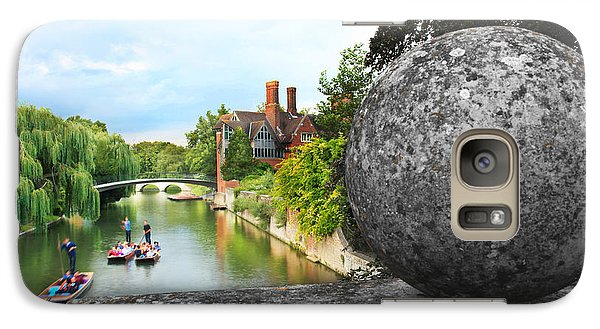 Galaxy Case featuring the photograph Punting In Cambridge by Eden Baed