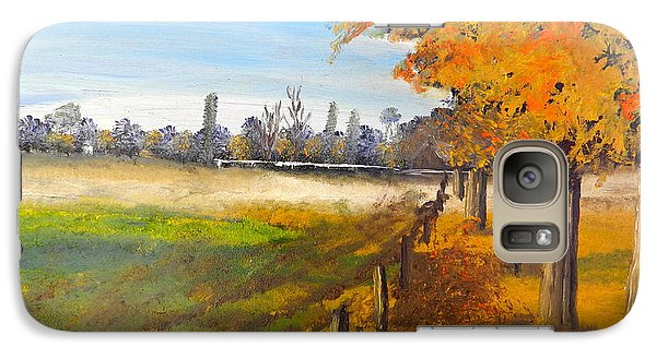 Galaxy Case featuring the painting Camden Farm by Pamela  Meredith