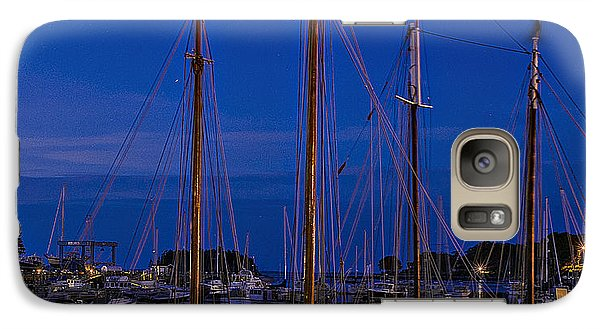 Galaxy Case featuring the photograph Camden Harbor Maine At 4am by Marty Saccone