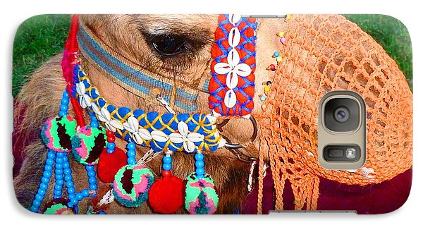 Galaxy Case featuring the photograph Camel Fashion by Julia Ivanovna Willhite