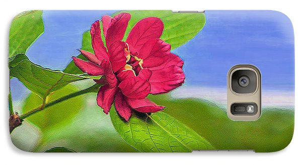 Galaxy Case featuring the digital art Camellia by Marion Johnson