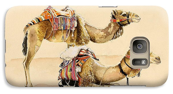 Camels From Petra Galaxy S7 Case by Alison Cooper