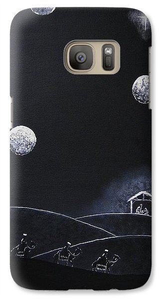 Galaxy Case featuring the painting Camino A Belen by Edwin Alverio