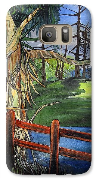 Galaxy Case featuring the painting Camino Real Park by Mary Ellen Frazee