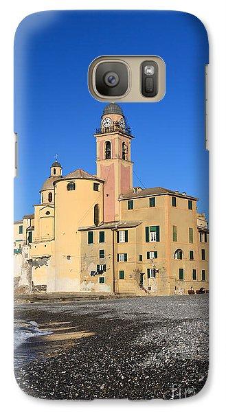 Galaxy Case featuring the photograph Camogli Seaside And Church by Antonio Scarpi