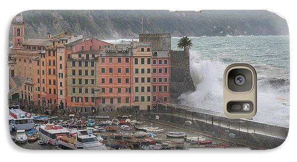 Galaxy Case featuring the photograph Camogli Under A Storm by Antonio Scarpi